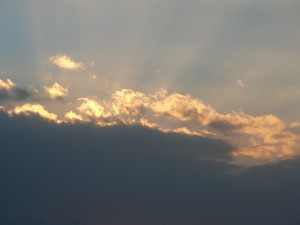 2014年元旦 金剛山にて  初日の出は見えそうで見えませんでした